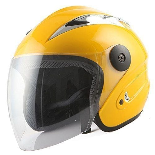 yellow street bike helmet