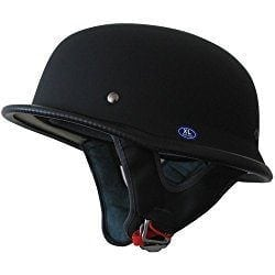german stlye black motorcycle helmet