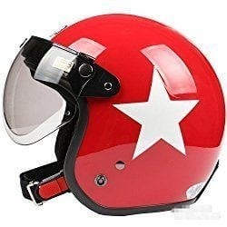 red helmet with white star