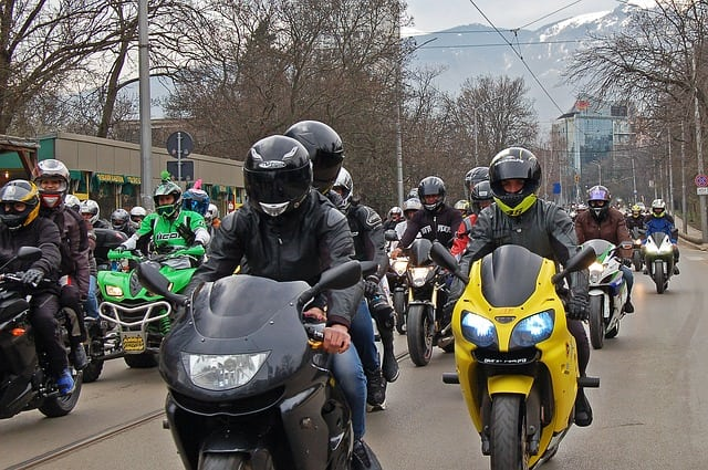motorcycle team touring